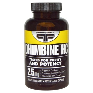 Йохимбин гидрохлорид (90 капс, 2.5 мг)