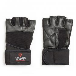 Перчатки для пауэрлифтинга с фиксацией запястья (M, XL)
