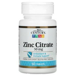 Цинк цитратный (60 таб, 50 мг)