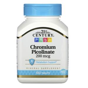 Пиколинат хрома (100 таб, 200 мкг)