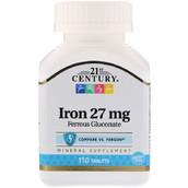 Железо в глюконатной форме (110 таб, 27 мг)