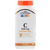 Витамин C + шиповник (110 таб, 1000 мг)