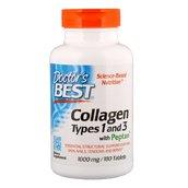 Коллаген, тип 1 и 3 + вит. С (180 таб, 1000 мг)