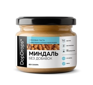 Миндальная паста (250 г, без добавок) - срок 05.2020г.