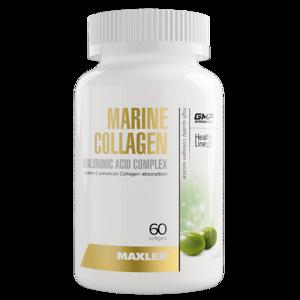 Морской коллаген + гиалуроновая к-та (60 капс, 30 порций)