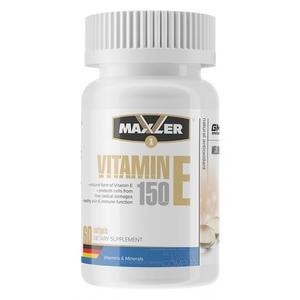 Витамин E (60 капс, 150 мг - 1154%)