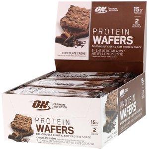 Протеиновые вафли (белок 15 г, углеводы 13 г, жир 9 г, масса 41 г)