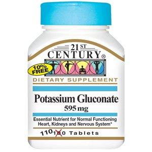 Калий глюконат (110 таб, 595 мг)